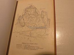 Sexten Dolomites Sextner Dolomiten Sudwand Grossen Zinne Cima Grande Italy Austria Map Mappa Karte 1928 - Carte Geographique