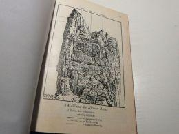Sexten Dolomites Sextner Dolomiten Sw Wand Kleine Zinne Cima Piccola Drei Zinnen Italy Austria Map Mappa Karte 1928 - Carte Geographique