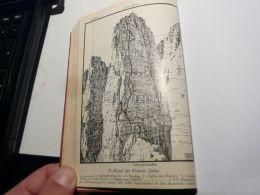 Sexten Dolomites Sextner Dolomiten N Wand Kleine Zinne Cima Piccola Drei Zinnen Italy Austria Map Mappa Karte 1928 - Carte Geographique