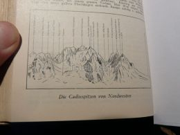 Sexten Dolomites Sextner Dolomiten Cadinspitzen Italy Austria Map Mappa Karte 1928 - Carte Geographique