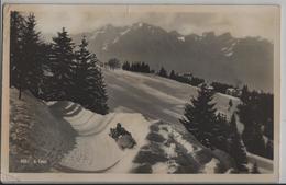 A Caux En Hiver Im Winter - Schlitten, Sled, Traineau, Slitta, Animee - VD Vaud