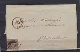 N°14A GESTEMPELD OP BRIEF NAAR Vorselaer COB € 14,00 SUPERBE - 1863-1864 Médaillons (13/16)