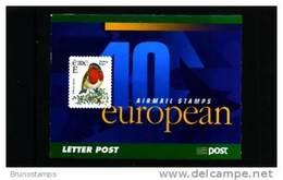 IRELAND/EIRE - 2001  E  BOOKLET  ROBIN   FINE  USED  FDI CANCEL - Libretti