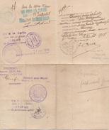 Passeport République Française 1918 Suisse France - Maps