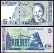 Kyrgyzstan 5 SOM 1997 P 13 UNC KIRGHIZSTAN - Kirghizistan