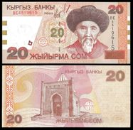 Kyrgyzstan 20 SOM 2002 P 19 UNC KIRGHIZSTAN - Kirghizistan