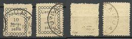 LITAUEN Lithuania 1918 Michel 1 - 2 O (Mi 1 Is Signed) - Lithuania