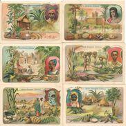 11 CHROMOS-Vers 1920-GEOGRAPHIE DOMAINE COLONIAL FRANCE-V° Descriptif-TBE - Artis Historia