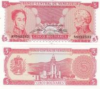Venezuela - 5 Bolivares 21.09. 1989 Pick 70a UNC Lemberg-Zp - Venezuela
