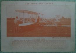 L'aviation Par L'image - L'aéroplane Wright - Carte Pub Offert Par Les Produits Nyrdahl - ....-1914: Precursors