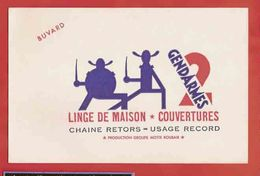 BUVARD / BLOTTER :Linge Les 2 Gendarmes  Roubaix - Textile & Clothing