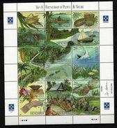 MIKRONESIEN Mi-Nr. 319 - 336 ZD-Bogen Partnerschaft Zwischen Mensch Und Natur Postfrisch - Mikronesien