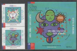 CHILE, 2017, MNH, COUNCIL FOR CHILDREN AND TEENS, SET+S/SHEET - Enfance & Jeunesse