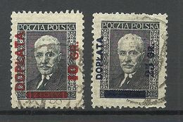 POLEN Poland 1934/36 Postage Due Doplata Michel 81 & 83 O - Taxe