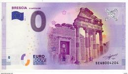 2017-1 BILLET TOURISTIQUE ITALIE 0 EURO SOUVENIR N°SEQB004210 BRESCIA - Essais Privés / Non-officiels