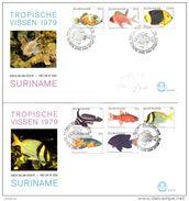 SURINAME 2 X Unaddressed FDC Tropical Fish Definitive Values 1c - 120c 30.05.1979 - Surinam