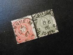D.R.Mi 44 Lb/44 Ld - 10/50Pf  1800/89 - Mi 4,00 € - Used Stamps