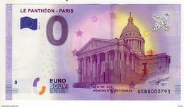 2017-2 BILLET TOURISTIQUE 0 EURO SOUVENIR N° UEBG019009 LE PANTHEON PARIS - EURO