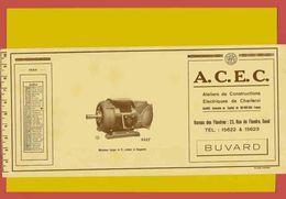BUVARD / BLOTTER /Moteur A.C.E.C. Charleroi 1934 - Electricity & Gas