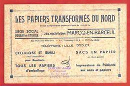 BUVARD / BLOTTER  :Les Papiers Transformés Du Nord  MARCQ EN BAROEUL - Stationeries (flat Articles)