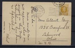 N°205 GESTEMPELD OP POSTKAART NAAR Ohio U.S.A. € 20,00 SUPERBE - 1922-1927 Houyoux