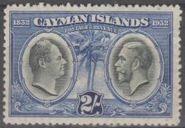 CAYMAN ISLANDS - 1932 2/- King William And King George V. Scott 78. MVLH - Cayman Islands