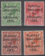 IRELAND - 1922 Harrison Overprints. Scott 19-22. MLH - 1922-37 Stato Libero D'Irlanda