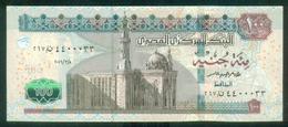 EGYPT / 100 POUNDS / NICE SERIAL NUMBER : 4400033 / DATE : 8-3-2016 / P- 72 B / SIG : AMER / PREFIX 267 / UNC. - Egipto
