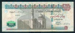 EGYPT / 100 POUNDS / NICE SERIAL NUMBER : 3003666 / DATE : 11-1-2016 / P- 72 B / SIG : AMER / PREFIX 261 / UNC. - Egipto