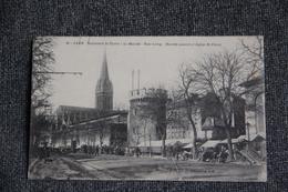 CAEN - Boulevard ST PIERRE, Le Marché, Cours LEROY, Marché Couvert Et Eglise ST PIERRE. - Caen