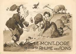 """CPSM FRANCE 63 """"Le Mont Dore Guérit Le Rhume Des Foins"""" - Le Mont Dore"""
