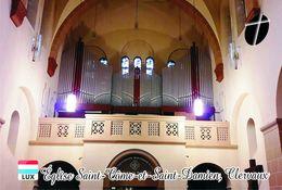 Carte Postale, Eglises, Orgues, Churches Of Europe, Luxembourg, Clervaux, Église Saint-Côme-et-Saint-Damien - Churches & Cathedrals