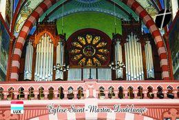 Carte Postale, Eglises, Orgues, Churches Of Europe, Luxembourg, Dudelange, Église Saint-Martin - Churches & Cathedrals