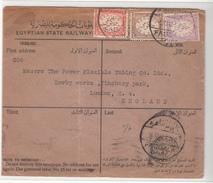 Egypt / Official Mail / Censorship / Railways - Egypt