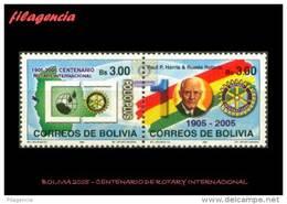 AMERICA. BOLIVIA MINT. 2005 CENTENARIO DE ROTARY INTERNATIONAL - Bolivië