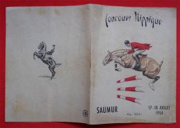1954 Saumur(49) Brochure Concours Hippique Programme Et Noms 23x31cm +Carte - Programs