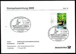 40341) BRD - Stempelkarte Michel 2481 - SoST Vom 06.04.2009 In 03222 LÜBBENAU/SPREEWALD Eröffnung Der Postkahnzustellung - [7] West-Duitsland