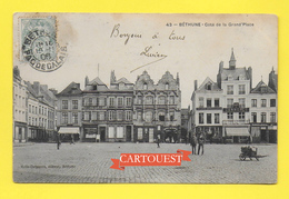 CPA 62 BETHUNE Grand Place CAFE Du COMMERCE 1906 ( Cliché Peu COMMUN ) - Bethune