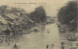 CAP SAINT-JACQUES -PNOM-PENH  -vue Du Canal  -ed. Cauvin - Cachet Maritime Au Dos - Vietnam