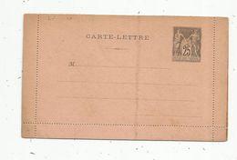 Carte Lettre Vierge , ENTIER POSTAL NEUF , 25 - Postal Stamped Stationery