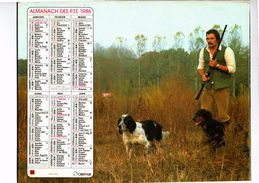 "ALMANACH DES PTT 1986  "" OBERTHUR "" (2 Scans) - Calendars"