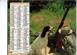 "ALMANACH DES PTT 1983  "" OBERTHUR "" (2 Scans) - Calendars"