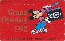 Télécarte Japon / 110-134531 - DISNEY STORE GO 1992 - MICKEY MOUSE Japan Phonecard Telefonkarte - Disney