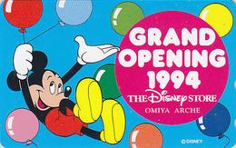 Télécarte NEUVE Japon / 110-157417 - DISNEY STORE GO 1994 - MICKEY MOUSE & Balloon - Japan MINT Phonecard  2000 EX - Disney