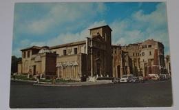846-Cartolina Roma Basilica S.Nicola In Carcere Via Teatro Marcello Automobili - Eglises
