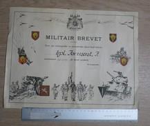 H Groot - MILITAIR BREVET 1949 - Documenti