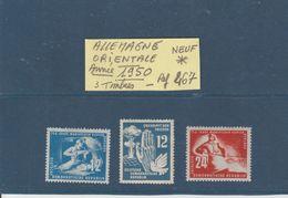 ALLEMAGNE DEMOCRATIQUE -- Année 1950  -  3  Timbres Neuf * -  En L'état.....voir Les 2 Scannes - [6] Repubblica Democratica