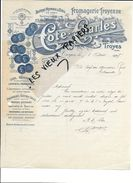 10 - Aube - TROYES - Facture COTE - Fromagerie - Beurre - Oeufs - 1928 - REF 84A - France