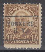 USA Precancel Vorausentwertung Preo, Locals New York, Yonkers 684-703 - Etats-Unis