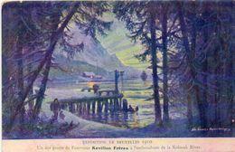 BRUXELLES - Exposition De 1910 - Un Des Postes De Fourrures Révillon Frères A L'Embouchure De La Koksoak River  (101505) - Universal Exhibitions